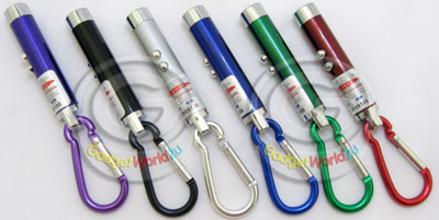 3 in 1 Function ~ LED Flashlight + UV Light + Red Laser with Keyring