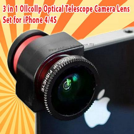 in 1 ollcollp optical telescope camera lens set for iphone 4 4s