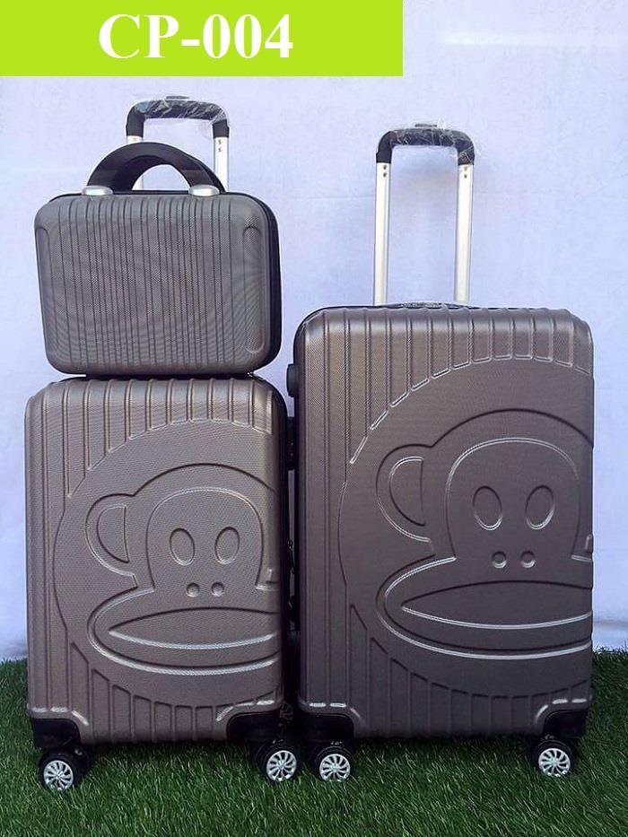 3 in 1 Paul Frank ABS Travel Luggage Bag (12' 20' 24') - CP
