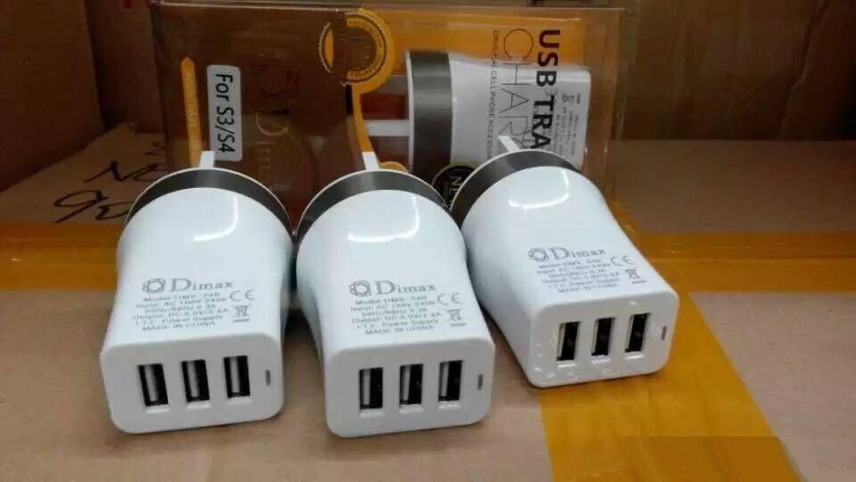 3.4A 5V 3USB LED Charging Power Adapter Wall Charger