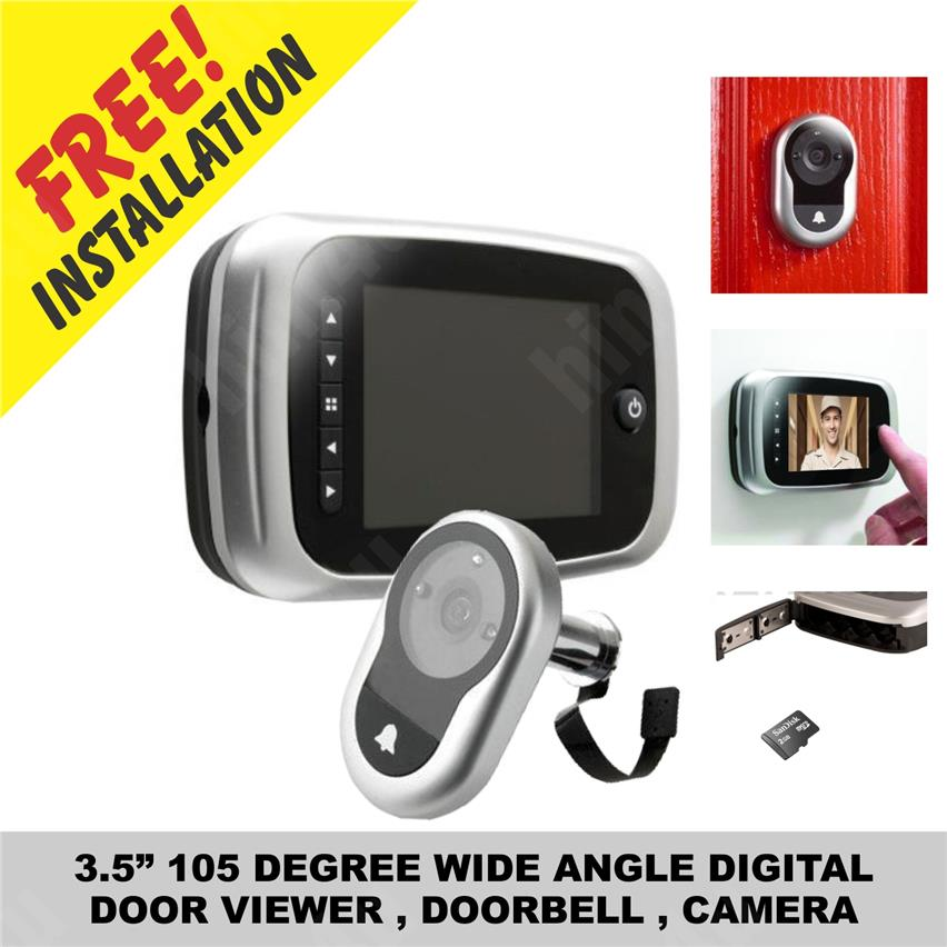 3.5 inchi 105 DEGREE WIDE ANGLE DIGITAL DOOR VIEWER, DOORBELL, CAMERA