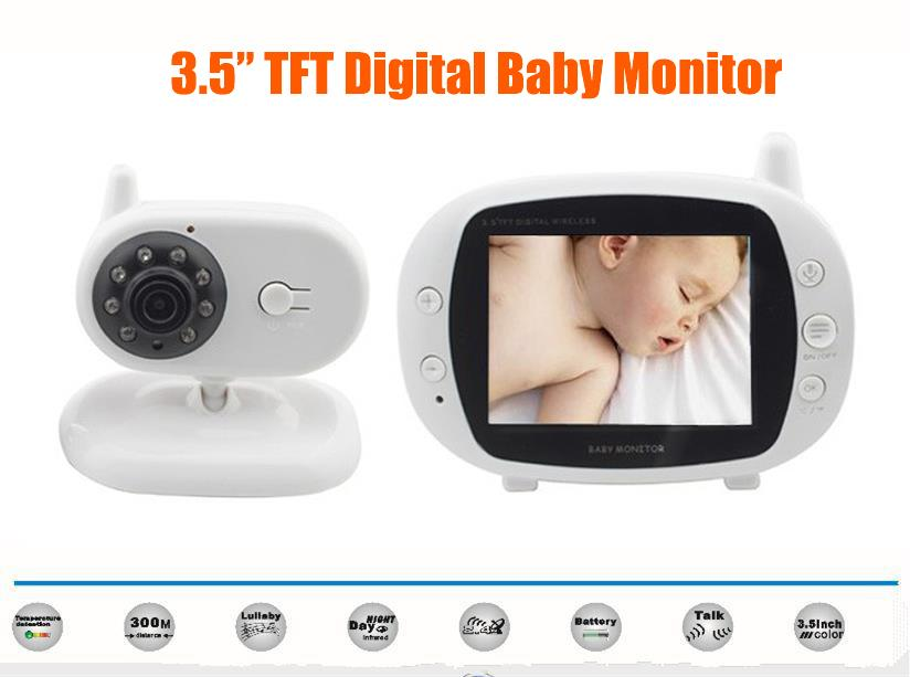 3.5' TFT full color LCD Baby Monitor With Camera And Night Vision