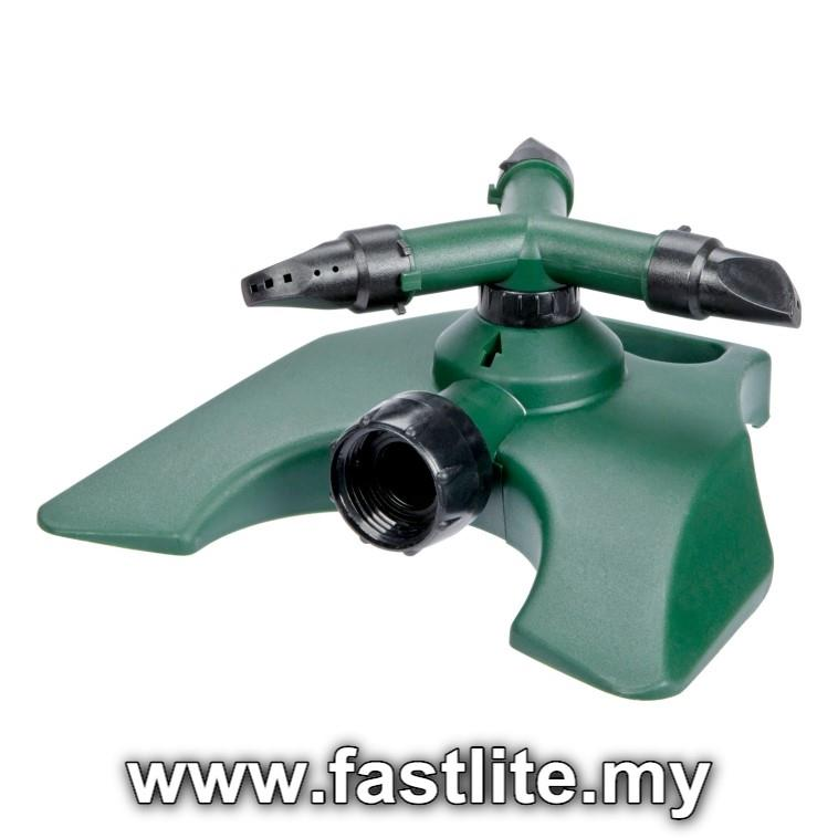 3 Arm Revolving Water Sprinkler to cool hot roofing & water plants2
