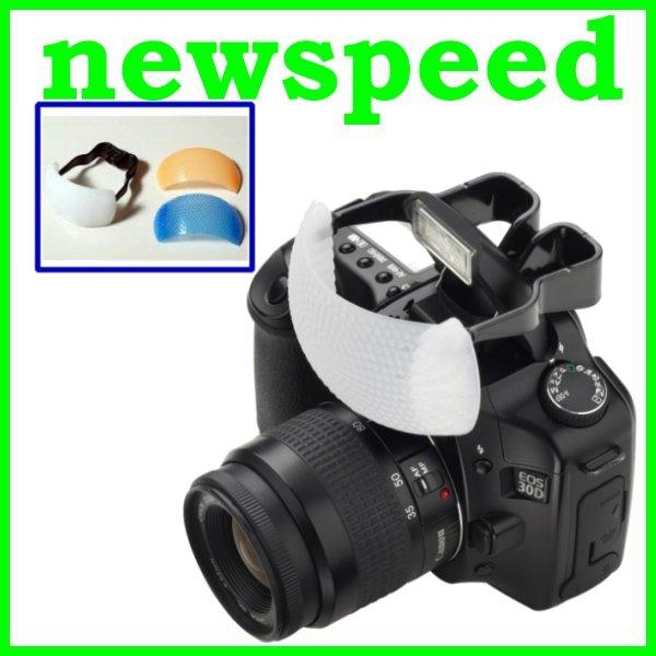 New 3 Color Pop Up Flash Diffuser for DSLR Camera Built in Flash
