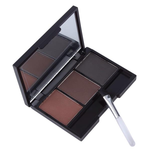 3 Colors Eyebrow Powder Palette With Mirror Casing