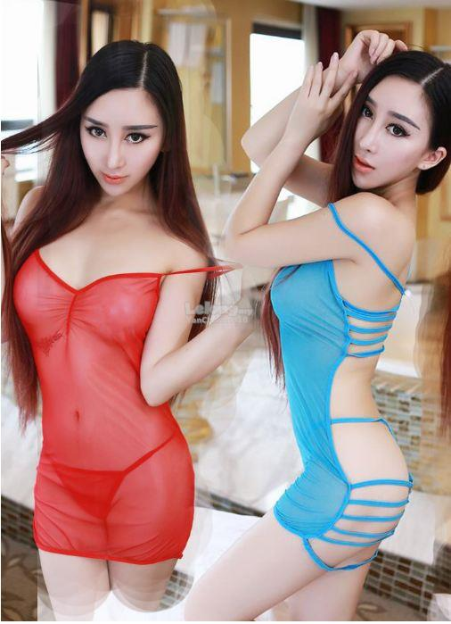 3 Colours Sexy Women Transparent Nightdress Lingerie Y9898