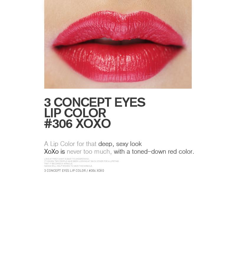 3 CONCEPT EYES (3CE) LIP COLOR #306 XOXO