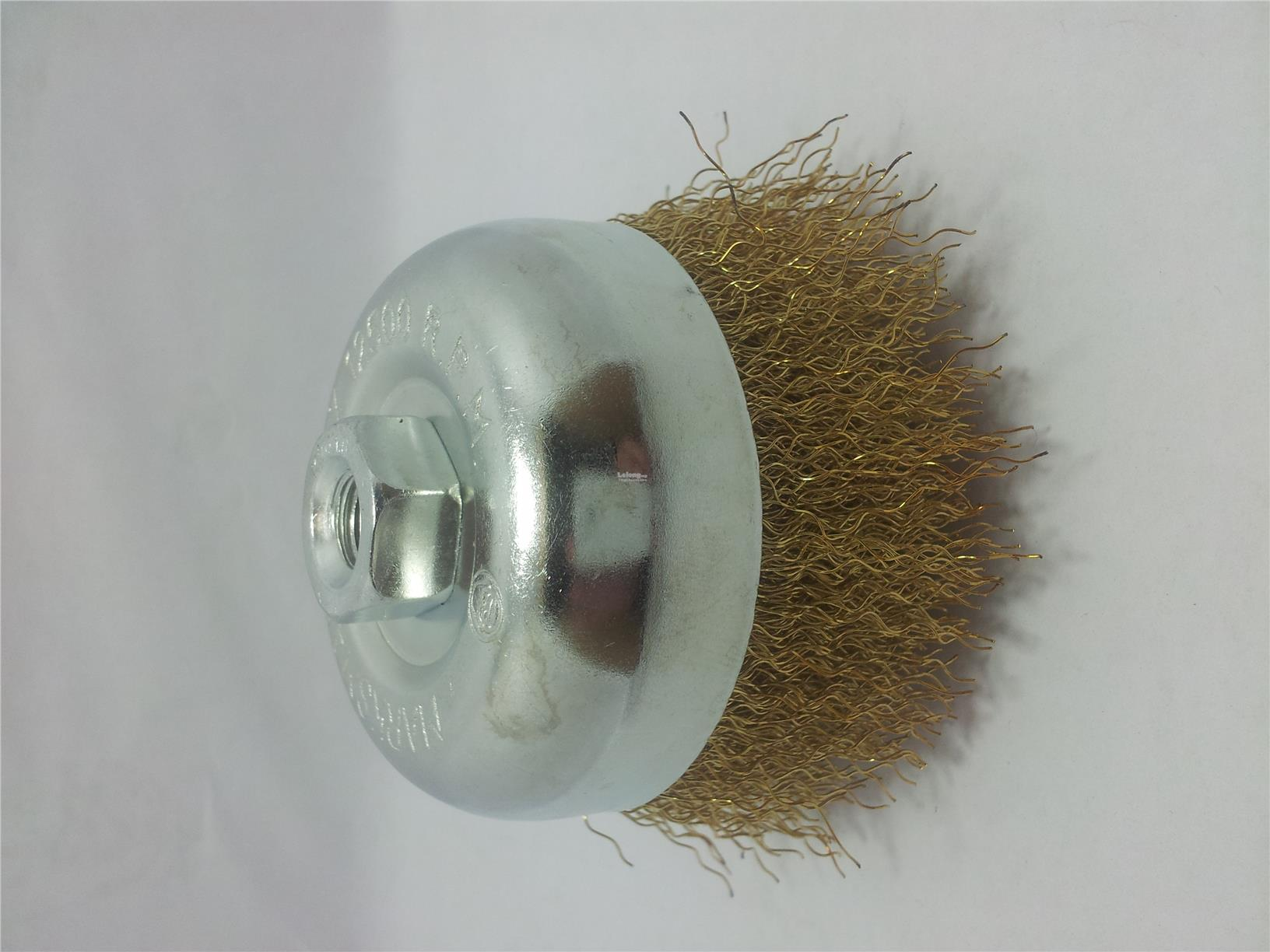 3' CUP BRUSH CRIMP WIRE M10 X1.5MM