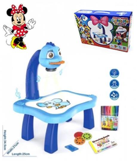 3 IN1 KIDS MICKEY MOUSE PROJECTOR PAINTING LEARNING TABLE