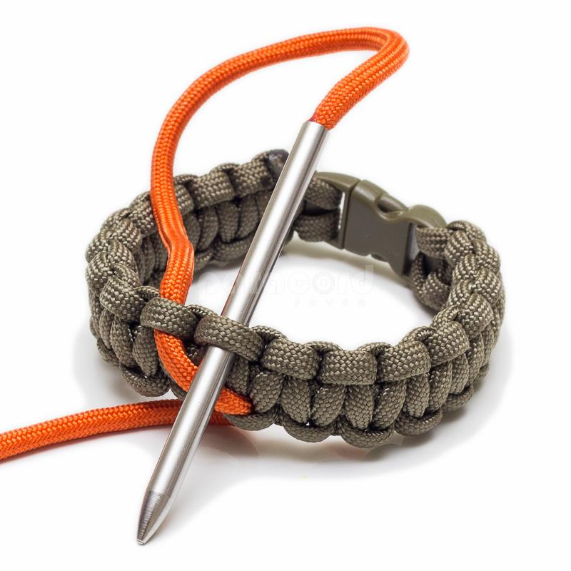 3 inch stainless steel paracord needle lacing fid
