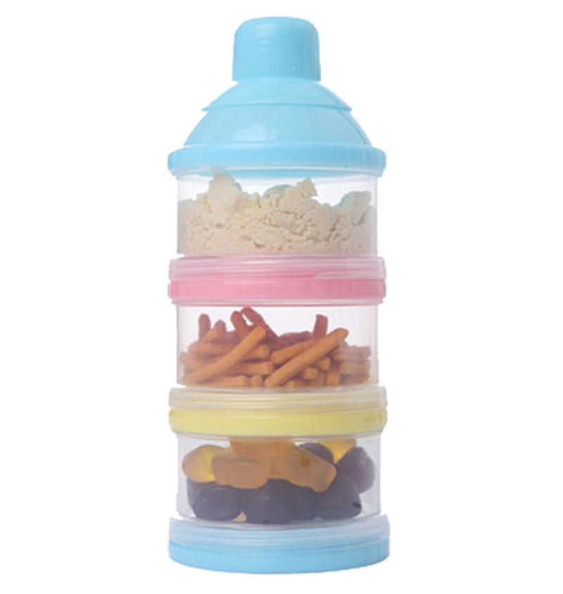 3 Layer Portable Baby Food Milk Powder Container and Dispenser Bottle