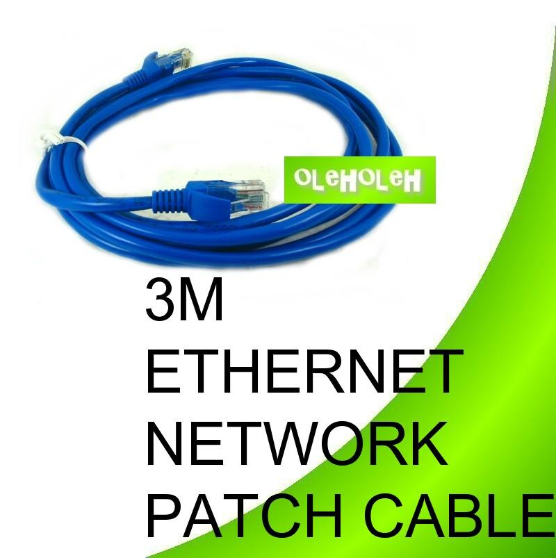 3 Meters Ethernet Network Patch Cable CAT5E PC To Hub