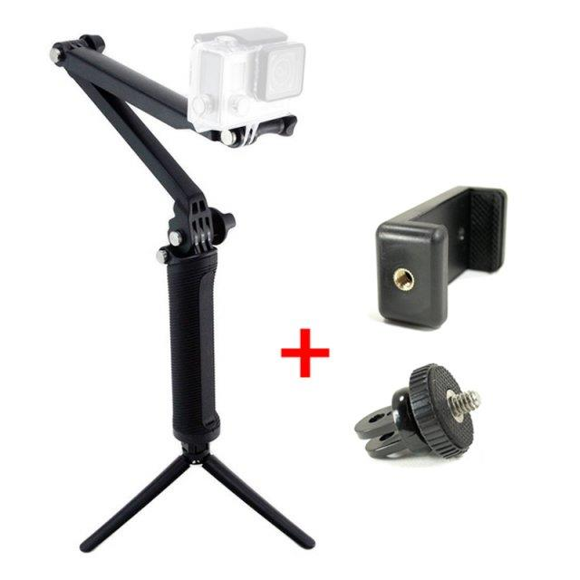 3 way monopod action camera xiaomi end 12 12 2017 12 15 pm. Black Bedroom Furniture Sets. Home Design Ideas