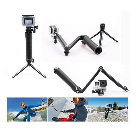 3-Way Monopod Multi-function Folding Arm + Stand + Tripod for Cameras