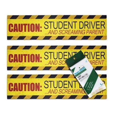 3 Pack Student Driver Magnet Bumper Stickers Caution Student Driver