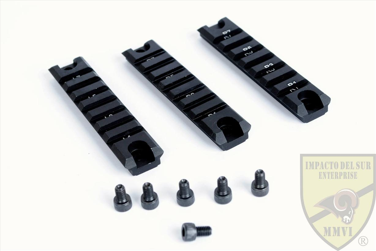3 Piece Rail 7 slots for G36
