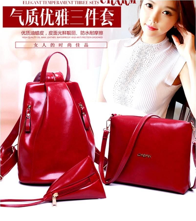 3 PIECES BAG IN BAG / ready stock/ leather waterproof