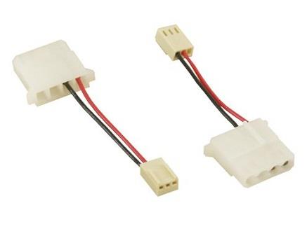 3 Pin Female PC Fan to IDE Power LP4 Female Cable