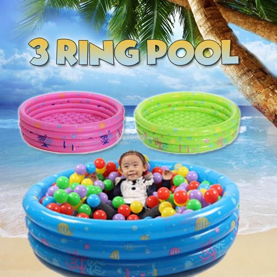 3 RING POOL (EXCLUDE PLAYBALL) C/W MANUAL PUMP
