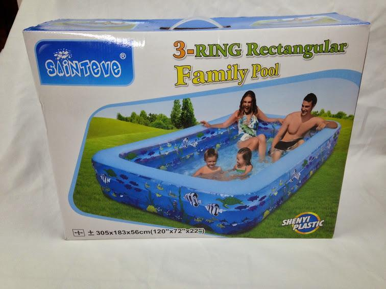 3-Ring Rectangular Family Pool 305cm