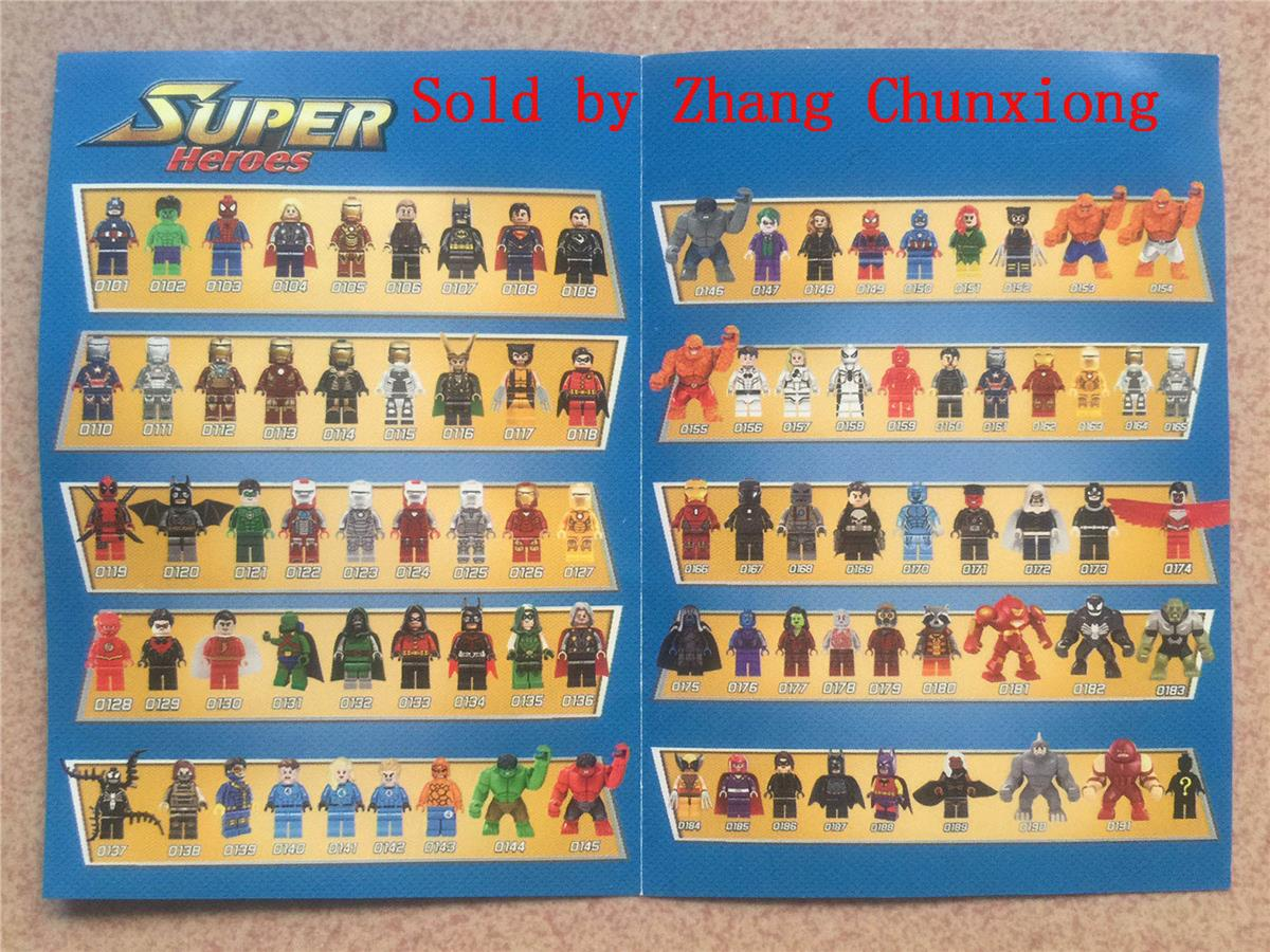 3 Sets Super Heroes Marvel figures Thing 7cm tall  No Box