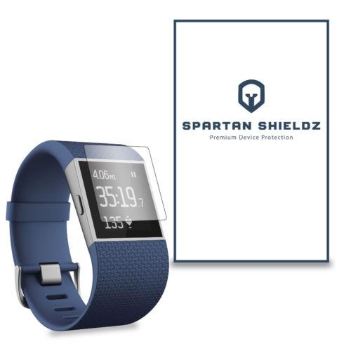3 Spartan Shield Clear HD Screen Protector Skin Cover FitBit Surge