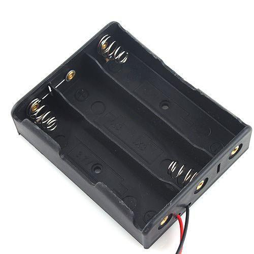 3 x 18650 Battery Holder Case Box with 6 inch Wire Leads