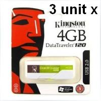 3 x Kingston PenDrive DataTraveler 120 4 GB DT120/4GB USB Flash Drive