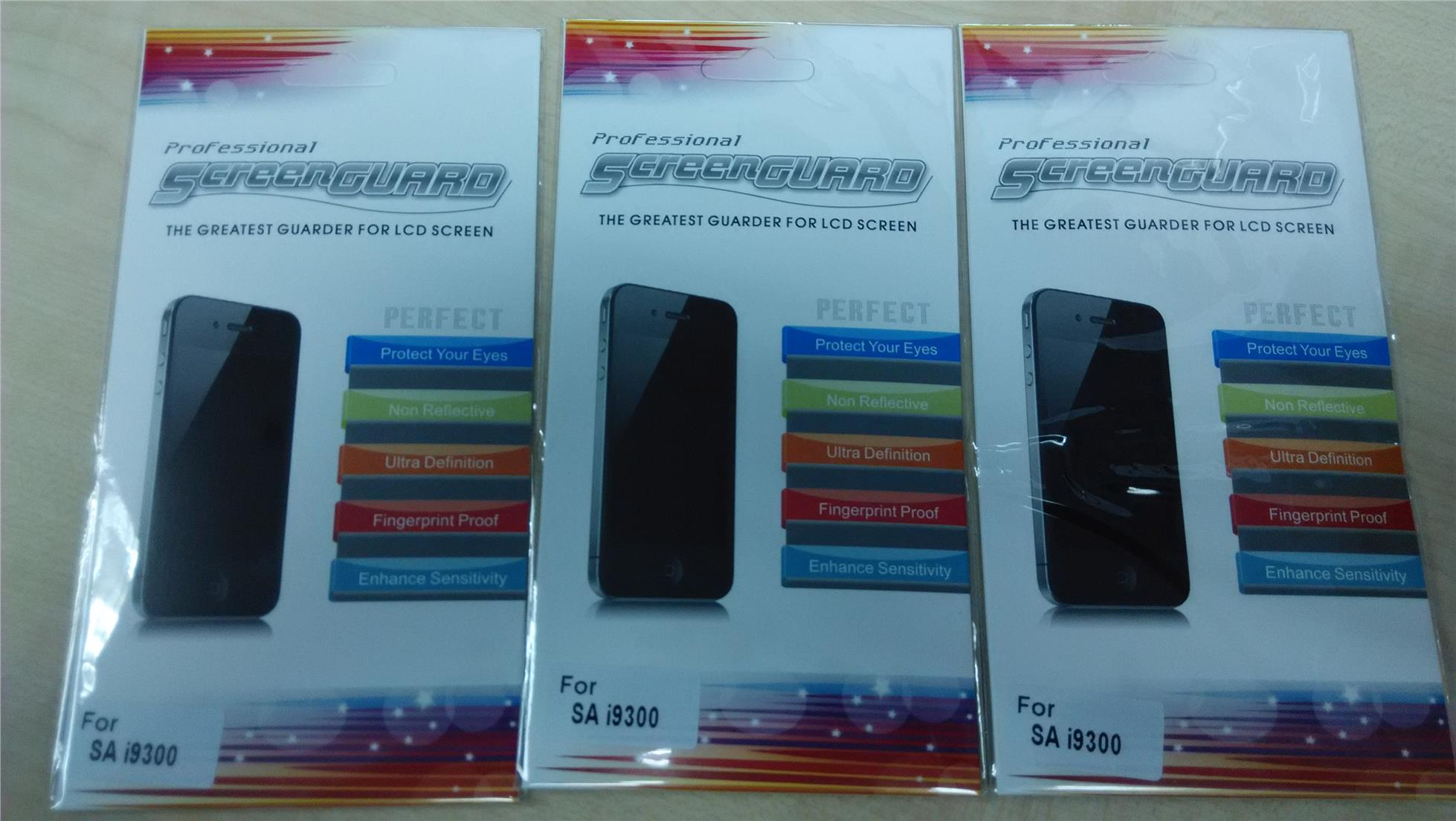 3 x Samsung Galaxy S3 i9300 Clear Screen Protector For 3 pcs