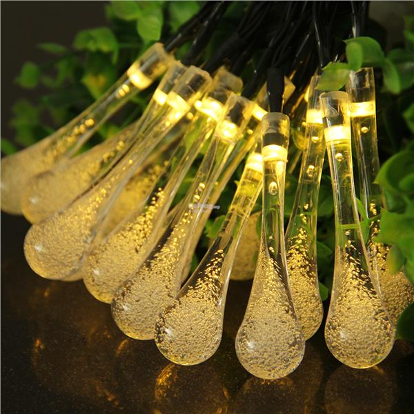 30 LED Solar Rain Drop Fairy String (end 10/15/2017 4:15 PM)