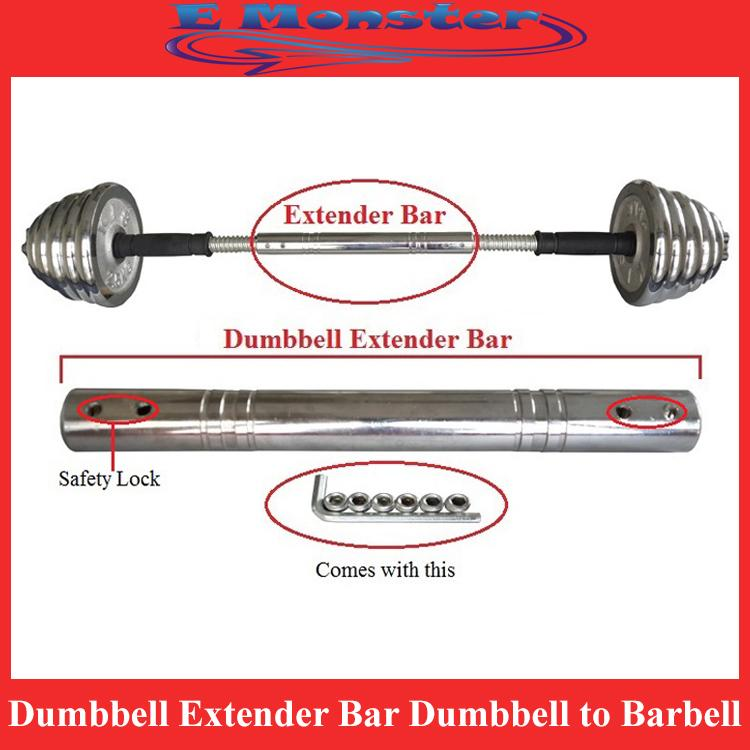 30CM 60CM Dumbbell Extender Bar - Transform your Dumbell to Barbell