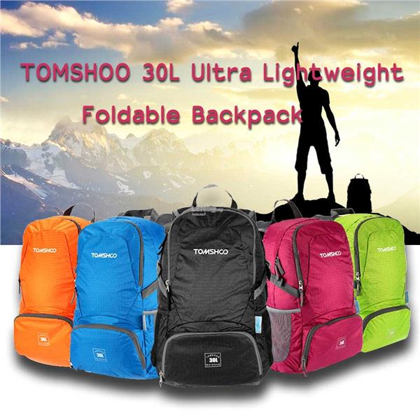 30L Ultra Lightweight Water-resistant Nylon Outdoor Backpack Travel Tr
