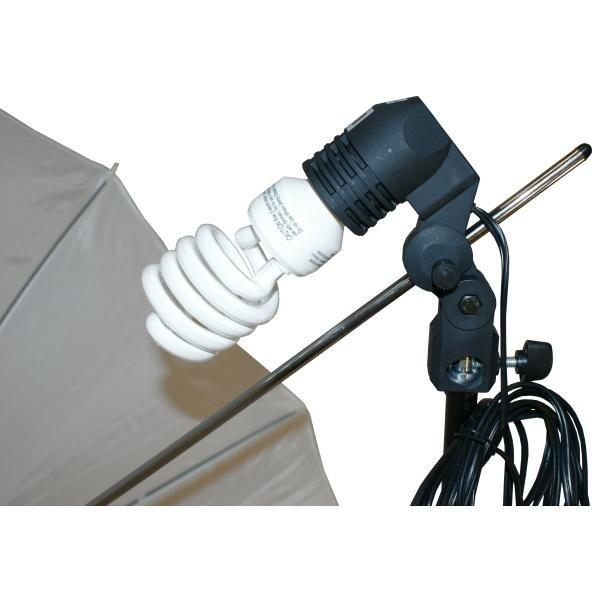 30W Continuous Light Studio Photography Bulb with Stand