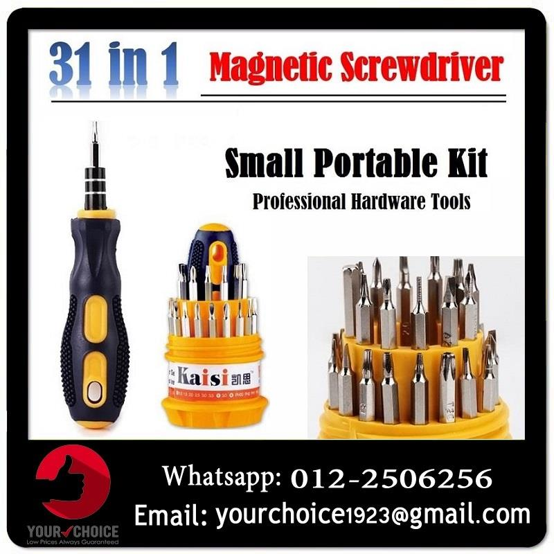 31 in 1 Professional Magnet Opening Tool Compact Screwdriver Kit Set