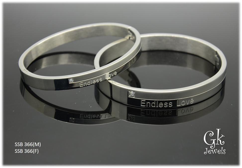 316 stainless steel Couple Bangle SSB 366 (per pair)