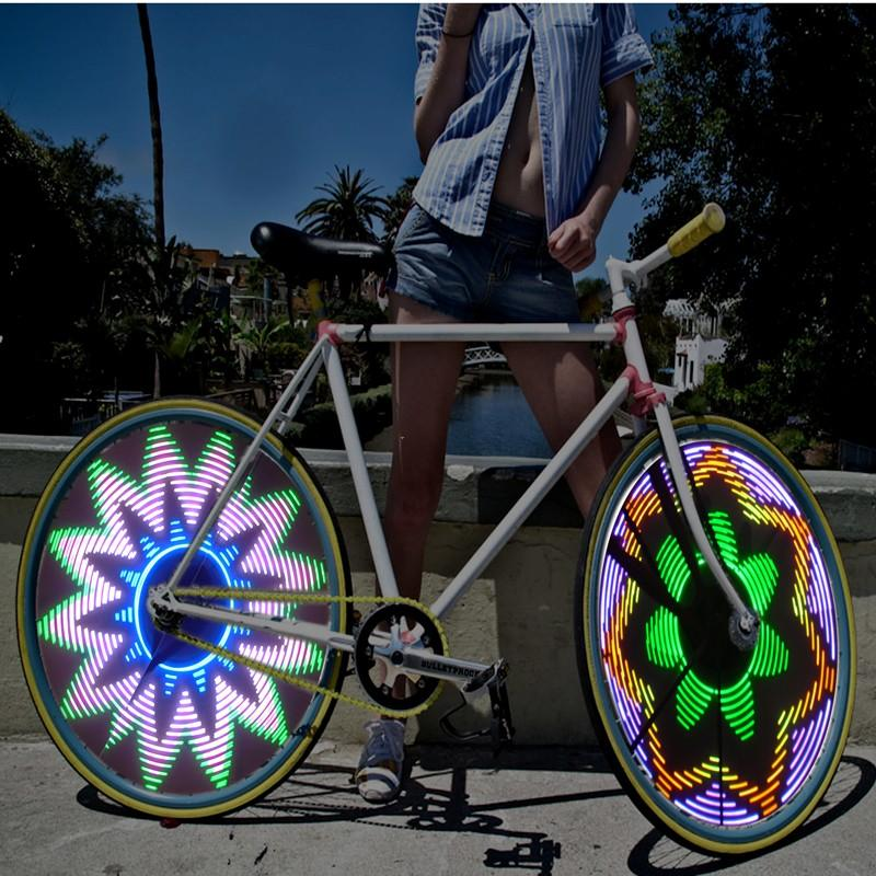 32 LED Lights Colorful Rainbow Wheel Signal for Bikes Bicycles