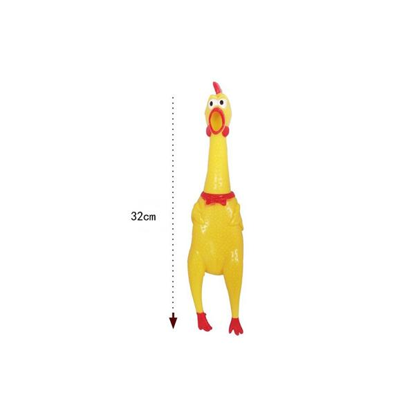 32cm Screaming Chicken Squeeze Sound Toy Funny Pets