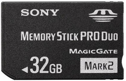 32GB MEMORY STICK PRO DUO MARK 2 MEMORY CARD FOR PSP
