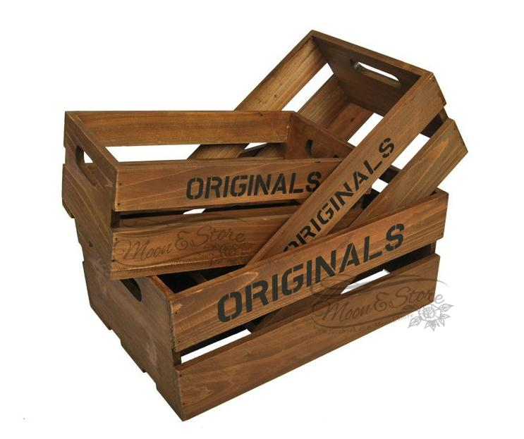 33 zakka vintage wooden crates with spaced wood s end 8 for Old wooden crates