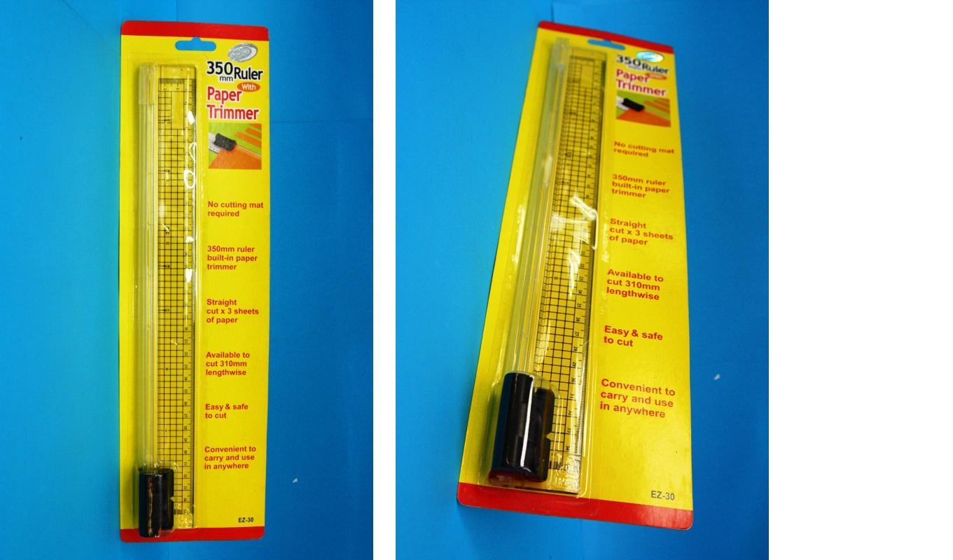350mm Ruler with Paper Trimmer / Cutter