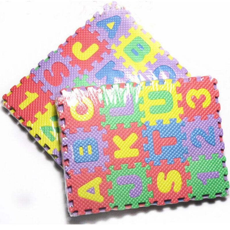 36 PCS Alphabet Number Soft Foam Baby Play Mat, Puzzle, Jigsaw