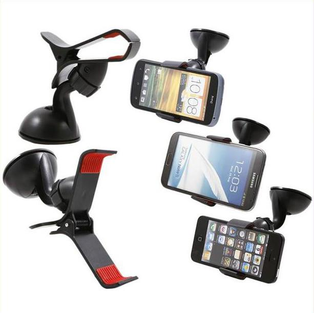 360° Rotation Universal Car Mount Holder Phone Holder Single Clip