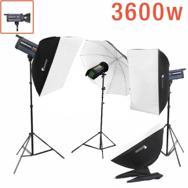 3600W Digital Studio Strobe Kit LITE