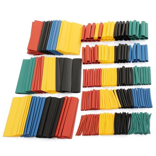 385pcs  Polyolefin Halogen-Heat Shrink Tube Sleeving 7 Color 9 Size