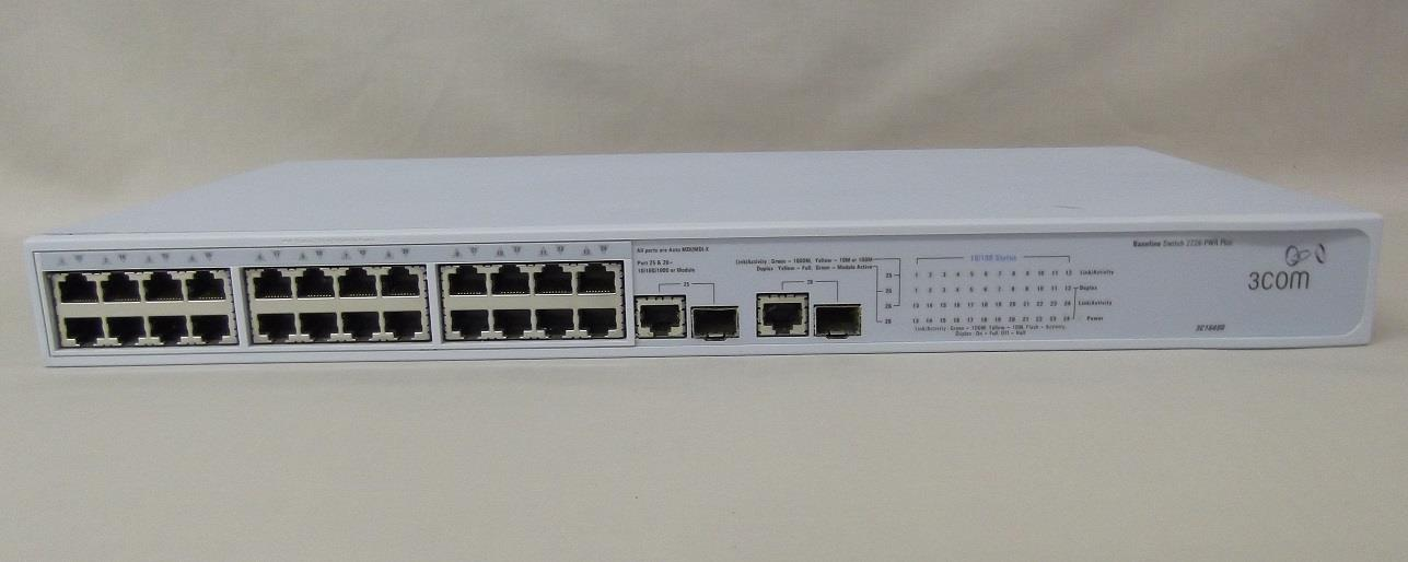3COM SWITCH 2226 PWR PLUS - 3C16490
