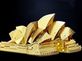 3d architecture puzzle hobby gold color building for Architectural decoration crossword clue