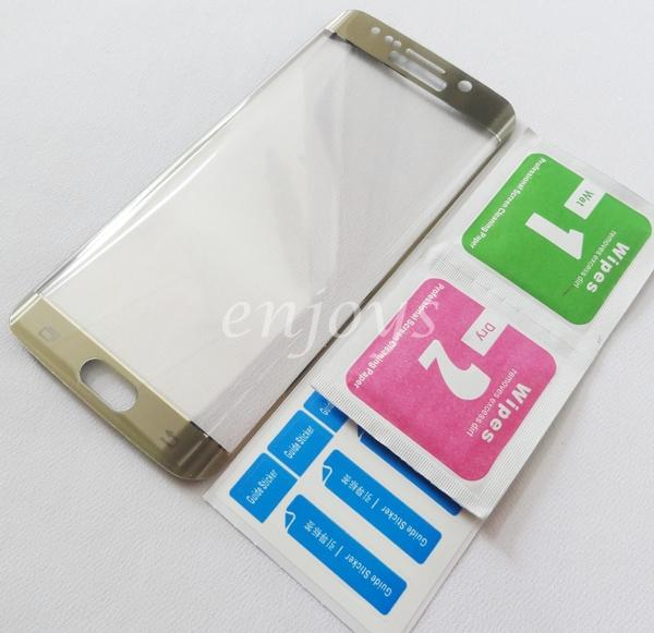 3D FULL Tempered Glass Screen Protector Samsung Galaxy S6 Edge ~GOLD