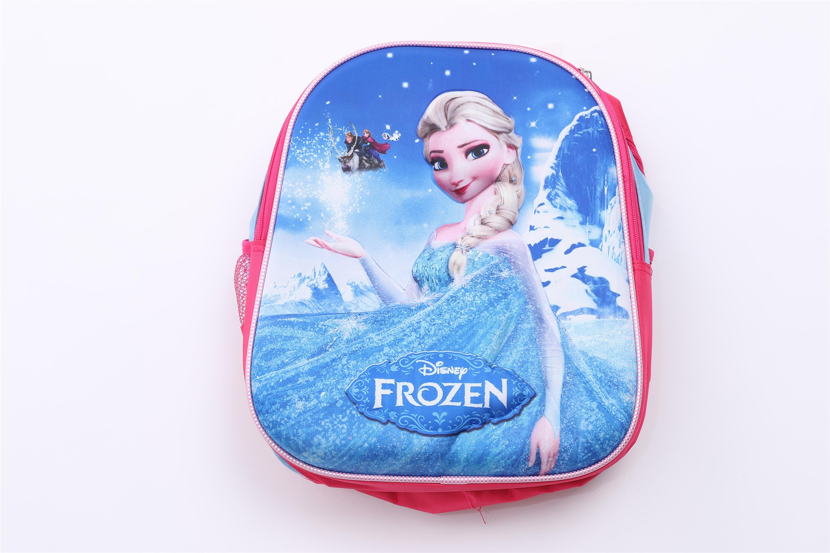 3D LITTLE GIRL FROZEN BLUE BACKPACK,SCHOOL BAG,SHOULDER BAG