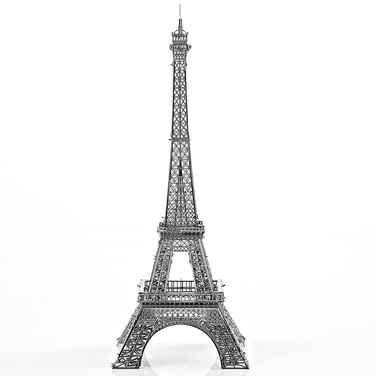 3D Models Metallic Nano Puzzle 3D Metal works Paris Eiffel Tower