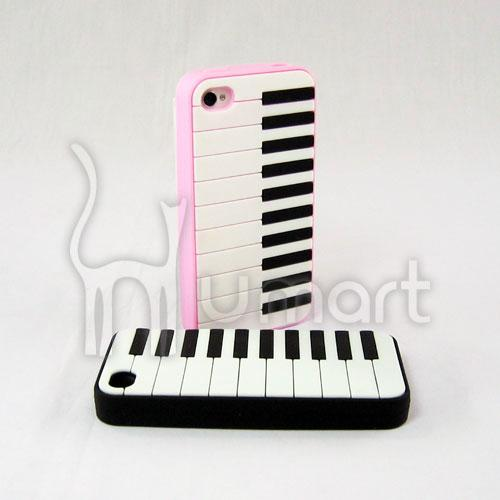 3D Piano Keyboard Styling Apple IPHONE 4/4S Silicone Case